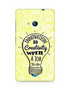 Amez Innovation is Creativity with a Job to do Back Cover For Microsoft Lumia 535