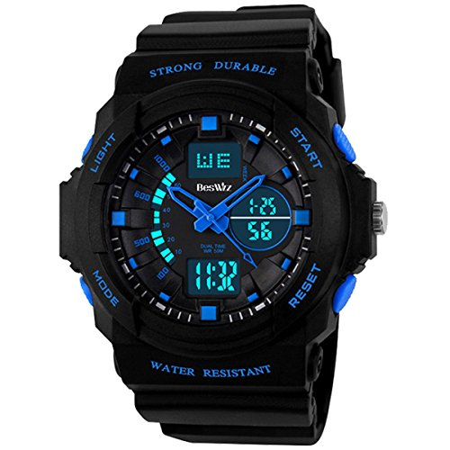BesWLZ-Multi-Function-Digital-LED-Quartz-Watch-Water-Resistant-Electronic-Sport-Watches-Child-Blue
