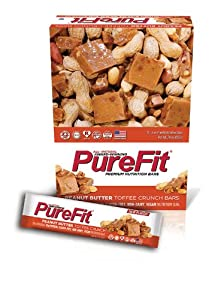 Pure Fit Nutritional Bar, Peanut Butter Toffee Crunch, 2-Ounce Bars (Pack of 15)