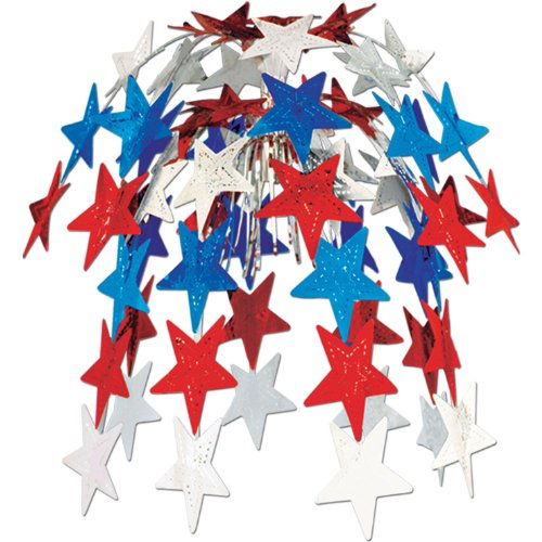 Star Cascade (red, white, blue) Party Accessory  (1 count) (1/Pkg)