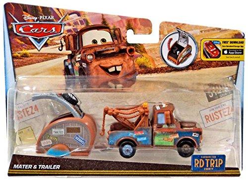 Disney/Pixar Cars, Carburetor County Road Trip, Mater Die-Cast Vehicle with Trailer by Disney