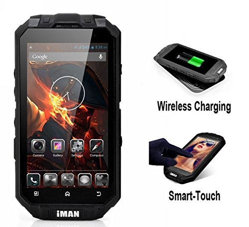 Intsun® Iman I3 Cellphone Mtk6589 4.3 Inch Tri-Proof Ip68 Waterproof Dustproof Shockproof Android 4.2.2 1.5Ghz 13.0Mp Rear Camera Quad Core Support Glove Touch And Wireless Charging, 1Gb+16Gb Emmc Wifi Bluetooth Gps 3G Dual Sim Rugged Android Cellphone Go