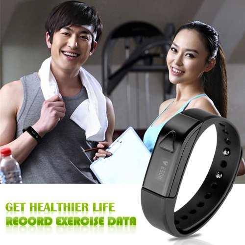 Lincass I5 Smart Band Wireless Bluetooth Fitness Activity Tracker Sleep Wristband Pedometer Exercise Walking Tracking Walk Sports Smart Bracelet for iphone All Android Smart Phones 6, 6 Plus, 5S, 5C, 5, 4S, 4, iPad Air, Ipod Touch, 5, 4, 3, 2, Retina Mini