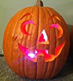 HALLOWEEN PUMPKIN JACK O LANTERN LED COLOR CHANGING CANDLE LIGHT SUPER BRIGHT FLASHING!