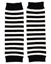 (Black & white stripe) juDanzy Newborn Baby Leg Warmers for boys and girls (Newborn-12 Pounds) Perfect for Halloween