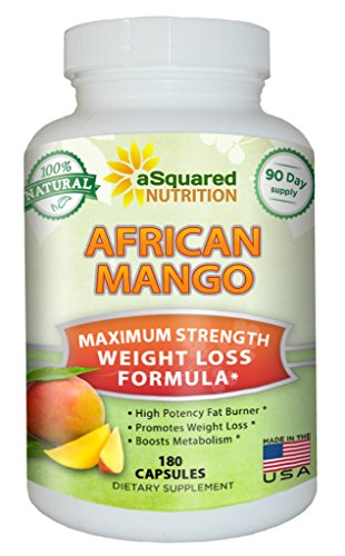 100% Pure African Mango Extract Cleanse (180 Capsules) Plus Raspberry Ketones & Green Tea Complex, Irvingia Gabonensis Seed Fat Burner, Fast Weight Loss Diet Pills Supplements, Detox Drops Slim Prime (Mango Extract Weight Loss compare prices)