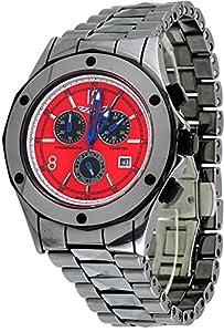 Corvette #CR215 Men's Stingray Tungsten Swiss Chronograph Red Dial Watch