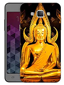 "Buddha In Gold - Buddhist God Printed Designer Mobile Back Cover For ""Samsung Galaxy A8"" (3D, Matte, Premium Quality Snap On Case)"