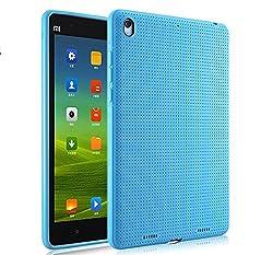 Premium Dotted Flexible Silicone Back Skin Case / Cover for Xiaomi Mi Pad - Blue