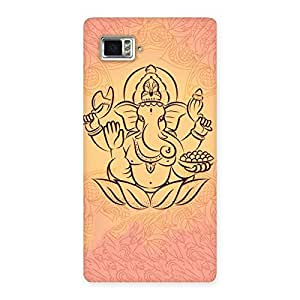 Impressive Jai Ganesha Print Back Case Cover for Vibe Z2 Pro K920