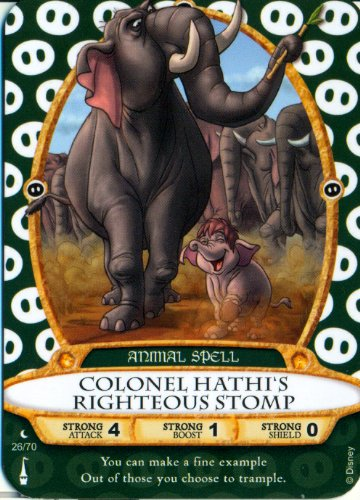 Sorcerers Mask of the Magic Kingdom Game, Walt Disney World - Card #26 - Colonel Hathi's Righteous Stomp - 1