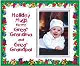 Holiday Hugs for Great Grandma & Great Grandpa Christmas Picture Frame Gift