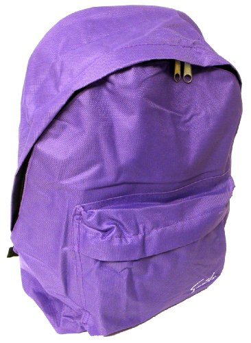 Unisex Purple Zip Round Backpack, Twin Handles And Adjustable Straps - Purple - UK 1-1