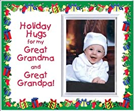 Holiday Hugs for Great Grandma amp Great Grandpa Christmas Picture Frame Gift