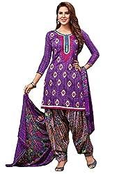 Begum Riwaaz Women's Georgette Unstitched Dress Material (18003B, Blue)