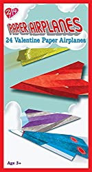 Paper Magic 24CT Paper Airplanes Kids Classroom Valentine Exchange Cards