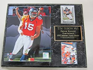 Denver Broncos Tim Tebow 2 Card Collector Plaque by J & C Baseball Clubhouse