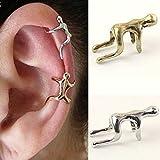DDU(TM) 1Pc Silver- Unisex Cool Climbing Man Shape Cartilage Clip Ear Cuff