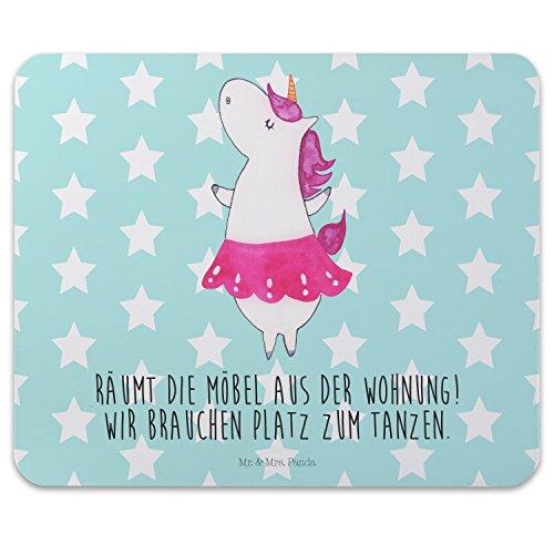 Mr-Mrs-Panda-Tapis-de-souris-impression-licorne-Ballerine-100-fait-main-en-caoutchouc-naturel-Licorne-licornes-Unicorn-danser-ballerine-Danseuse-Joie-de-Vivre-Joie-de-Vivre-Mouse-Pad-Tapis-de-Souris-e