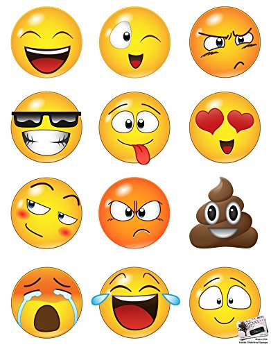 Large Emoji Faces Wall Graphic Decal Sticker #6052