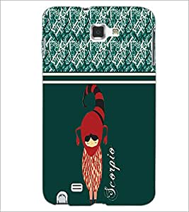 PrintDhaba Zodiac Scorpio D-2741 Back Case Cover for SAMSUNG GALAXY NOTE 1 (Multi-Coloured)