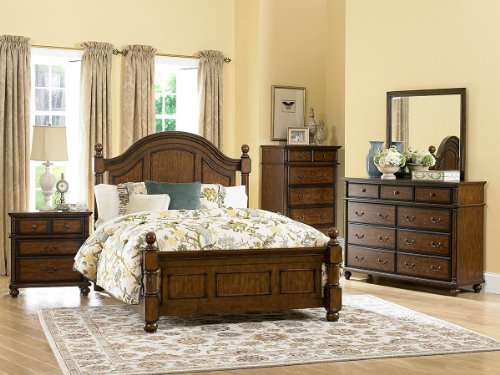 Langston 5 Pc California King Bedroom Set With Chest By Homelegance In Brown Cherry front-740040