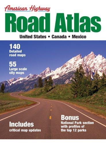 2011 American Highway Road Atlas of the U.S., Canada, & Mexico (Medium Format) [Paperback]