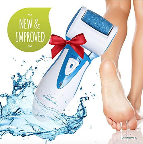 Electric Callus Remover & Rechargeable Pedicure Tools CR900 by Own Harmony w/ 3 Rollers, Reg. & Extra Coarse (Tested Most Powerful) Best Foot File, Professional Spa Electronic Micro Pedi Feet Care (Electric Callus Remover Machine compare prices)