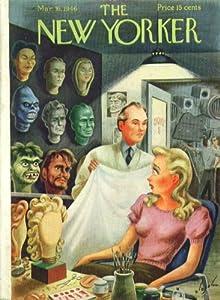 Yorker cover Alajalov horror movie makeup man 3/16 1946