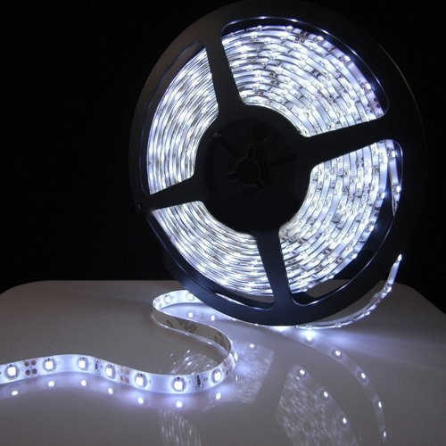 Triangle Bulbs® White Flexible Ribbon High Quality Led Strip Light, 300 Leds, 16.4 Ft/5 Meters,
