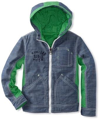 Diesel Big Boys' Jobio Reversible Jacket, Green, Large