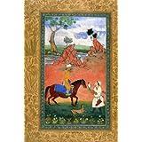 Abdullah Khan Uzbeg Hawking, by Abu'l Hasan (V&A Custom Print)