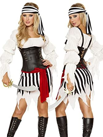 Sexy Pirate Princess Costume - SMALL