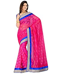 Sehgall Saree Indian Bollywood Designer Ethnic Professional Designer Material Super Net Pink