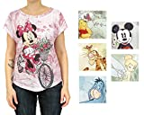 Disney Womens Graphic Print Casual Sublimated Top