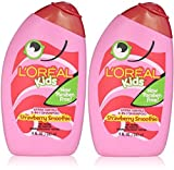 L'Oreal Kids 2-in-1 Shampoo for Extra Softness, Strawberry Smoothie 9 OZ Size: Pack of 2, Model: , Newborn & Baby Supply