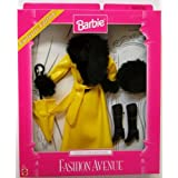 Barbie Fashion Avenue Coat Collection. Yellow Slicker With Black Fur Trim