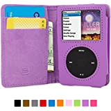 Snugg iPod Classic Case - Flip Cover & Lifetime Guarantee (Purple Leather) for Apple iPod Classic