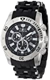 Invicta Men's 0138 Sea Spider Collection Chronograph Black Polyurethane Watch