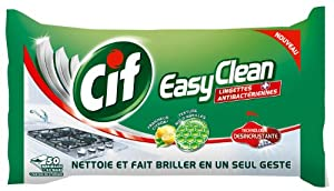 Cif Nettoyants Ménagers Easy Clean Citron 50 Lingettes Lot de 4