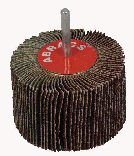 Abracs - Confezione da 5 dischi abrasivi su ruota a lamelle, 60 g, 25 x 15 mm