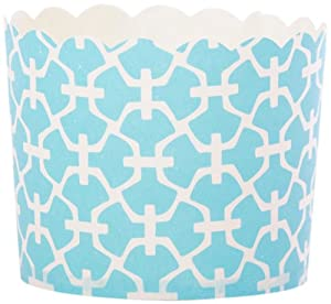 Simply Baked Paper Baking Cup 20-pack, Turquiose Lattice , Large
