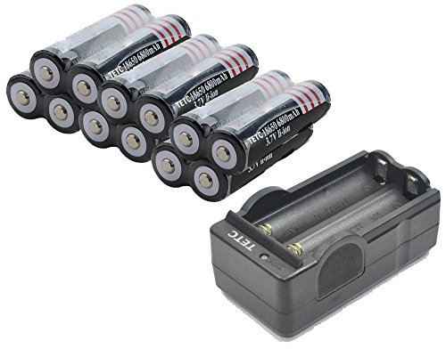 Read About 12Pcs TETC 18650 3.7V 6800mAh Lithium Ion Parallel Battery with dual Charger