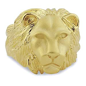 LIOR - Man Lion Ring Gold Plated - for life time use