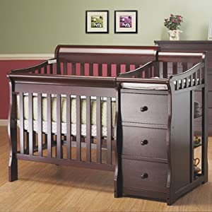 Bundle-74 Newport Convertible Mini Crib and Changer Combo (Set of 8)