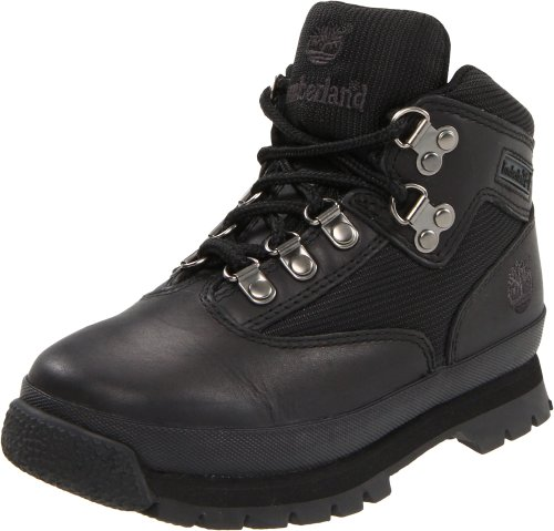 Timberland Euro Hiker Leather And Fabric Boot (Toddler/Little Kid/Big Kid),Black,12.5 M Us Little Kid