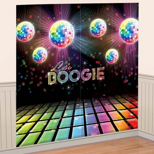 New Disco Dance Fever Scene Setter Happy Birthday Party Wall Decoration Decor Boogie front-631056