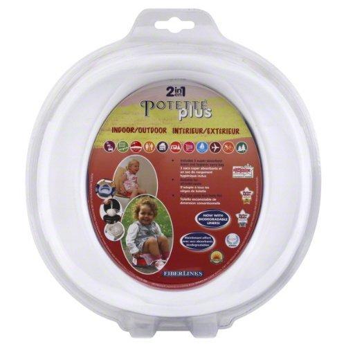 White Potette Plus Port-A-Potty Training Potty Travel Toilet Seat - 2 In 1