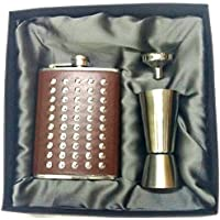 Classique Combo Of 3 Pcs.Gift Set Of Premium Stainless Steel Hip Flask For Whisky/Wine With SS Peg Measure 30/...