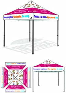 Eurmax Instant Canopy Pop up Party Wedding Trade Show Tent Gazebo with Custom Printed... by Eurmax